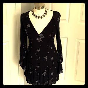 Euc free people jasmine dress, black, 10